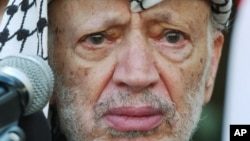 Palestinian leader Yasser Arafat, the founder of the Fatah movement (file photo)