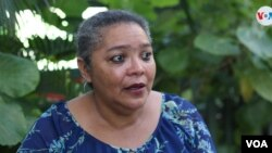 Dolene Miller, activista nicaragüense, conversa con la Voz de América. [Foto: VOA/Houston Castillo]