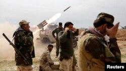 شبه نظامیان شیعه در حال مبارزه با داعش در عراق
