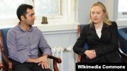 Bəxtiyar Haciyev 2012-ci ildə həbsdən azad edildikdən sonra o zaman ABŞ Dövlət katibi Hillari Klintonla görüş zamanı