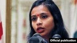 Devyani Khobragade, Wakil Konsul Jenderal India di New York ditangkap pihak berwenang AS minggu lalu (foto: dok).
