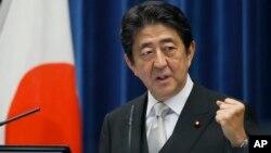 日本首相安倍晋三(资料照片)。