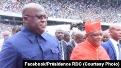 Président Félix Tshisekedi na mopanzi ya cardinal Fridolin Ambongo na stade des martyrs, Kinshasa, 17 novembre 2019. (Facebook/Présidence RDC)