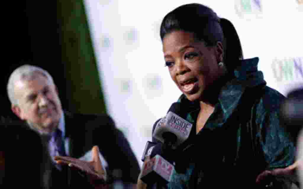 14. - La presentadora de televisión Oprah Winfrey.