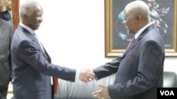 Thabo Mbeki e Armando Guebuza