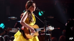 Kacey Musgraves performing at the CMA Awards in Nashville, Tennessee, Wednesday night.