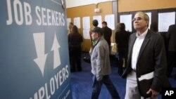 미 오레곤주 포틀랜드에서 열린 취업박람회. (자료사진)