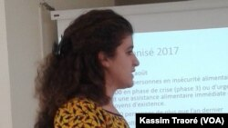 Cecilia Aspe à Bamako, le 27 avril 2017. (VOA/Kassim Traoré)