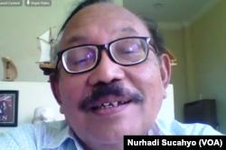 Sekretaris KPA NTT, Husein Pancratius R, dalam tangkapan layar. (Foto: VOA/Nurhadi Sucahyo)