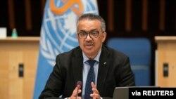 Tedros Adhanom Ghebreyesus, director general de la Organización Mundial de la Salud (OMS), habla sobre el brote de la enfermedad por coronavirus en Ginebra, Suiza, el 21 de enero de 2021.