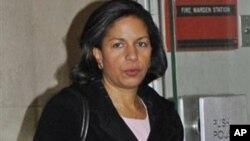 美國駐聯合國大使蘇珊.賴斯19日抵達聯合國