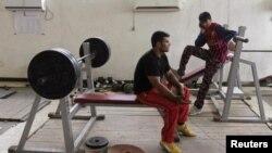 محمد فهیم رحیمی در حال تمرین