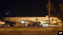 هواپیمای مسافربری سوریه در فرودگاه آنکارا