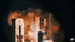 កាំជ្រួច Delta IV ដែលមានផ្ទុក Parker Solar Probe ត្រូវបានបង្ហោះចេញពីបន្ទាយអាកាស Kennedy Space កាលពីថ្ងៃទី១២ សីហា ២០១៨។