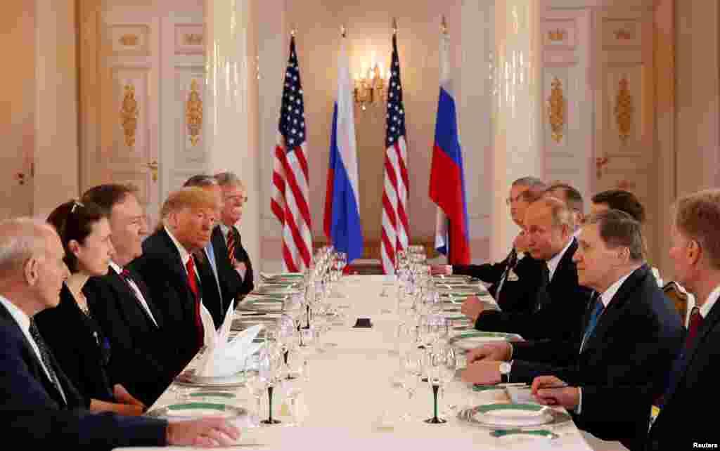 ناهار کاری روسای جمهوری آمریکا و روسیه و هیاتهای همراه