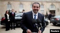 哈里里星期六在巴黎愛麗舍宮總統官邸與法國總統馬克龍舉行了會談。