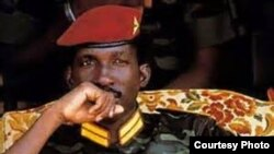 FILE - Assassinated former Burkina Faso leader Thomas Sankara.