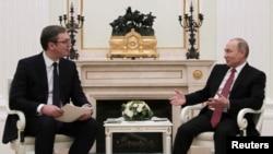 Ruski i srpski predsednici, Vladimir Putin i Aleksandar Vučić u Moskvi, 19. decembar 2017.
