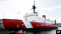 FILE - The 399-foot U.S. Coast Guard icebreaker Polar Star in Seattle, March 10, 2010.
