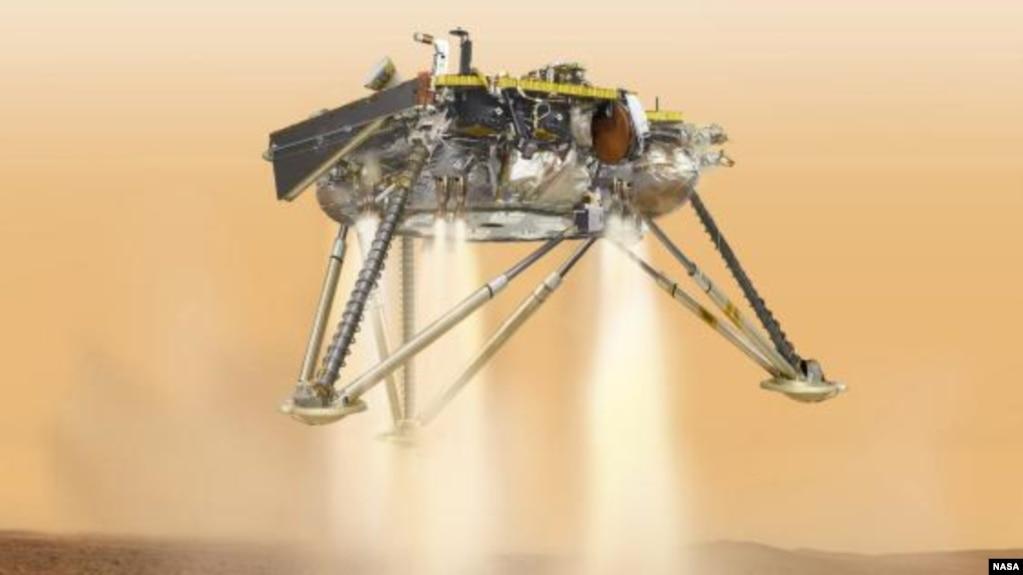 Исследовательский зонд NASA совершит посадку на Марсе в понедельник