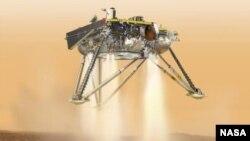 Симуляция посадки зонда InSight на Марсе