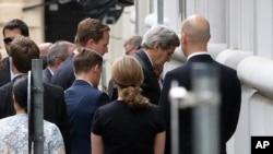 El secretario de Estado de EE.UU., John Kerry, legend al sitio de las negociaciones nucleares en Viena, este miércoles, 8 de julio de 2015.