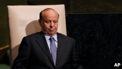 (Ảnh tư liệu) - Ông Abed Rabbo Mansour Hadi, cựu tổng thống Yemen, tại phiên họp thường niên lần thứ 67 tại trụ sở Liên Hiêp Quốc.