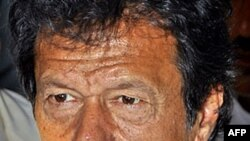 Người hùng môn cricket trở thành chính trị gia Imran Khan (hình lưu trữ)