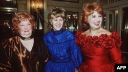 Opera singer Beverly Sills, right, with her daughter Muffy, and her mother Shirley Silverman, left, in this Dec. 19, 1988 photo at New York's Plaza Hotel