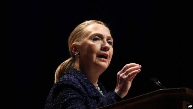 Sakatariyar harakokin wajen Amurka Hillary Clinton