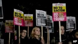 مظاهره کوونکي وايي ویره لري چې د ښاغلي ټرمپ په واکمنۍ کې به د امریکایانو مدني حقونه تر پښو لاندې شي