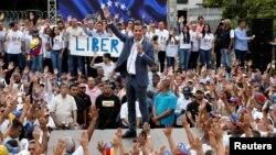 گوایدو در تجمع روز شنبه در پایتخت ونزوئلا