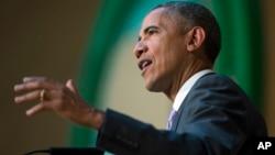 美國總統奧巴馬7月28日訪問埃塞俄比亞並發表講話。