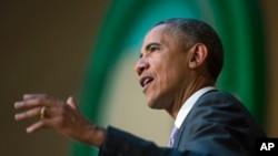 奧巴馬在非盟總部演講