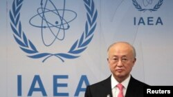 International Atomic Energy Agency Director General Yukiya Amano attends a news conference at the UN headquarters in Vienna, Austria, March 4, 2013.