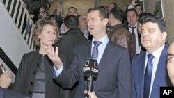 بشار اسد و همسرش اسما اسد