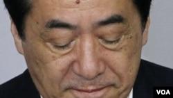 PM Naoto Kan menghadiri rapat umum Partai Demokrat Jepang (DPJ), di mana ia mundur dari jabatan ketua Partai (26/8).