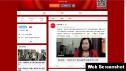 """环球时报微博登载攻击""""凤姐""""文章(网络微博截图)"""
