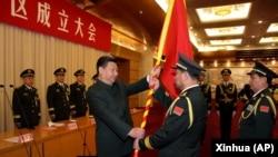 2016年2月1日,在北京舉行的中國人民解放軍戰區成立大會上,中國國家主席習近平向北方戰區司令宋普選上將和政委褚益民上將授予軍旗。
