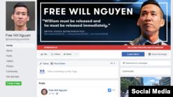 Trang Facebook vận động Trả tự do cho Will Nguyễn (Free Will Nguyễn - Facebook)
