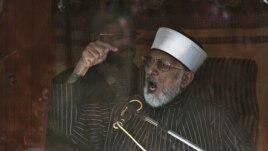 Lider verske organizacije Minadž-ul-Kuran na protestima u Islamabadu, 15. januar, 2013.
