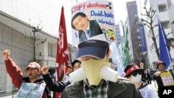 日本持續出現反核示威。