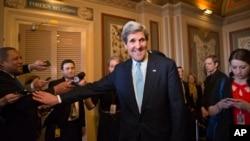 29일 상원 외교위 인준을 통과한 존 케리 국무장관 지명자.
