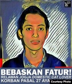 Poster membela korban UU ITE yang dibuat LBH Yogya. (Foto courtesy:Nurhadi)