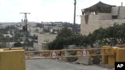Entrance to a neighborhood, part of the Kiryat Arba Jewish settlement in Hebron