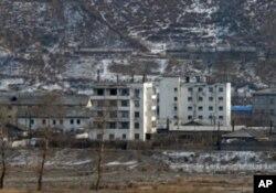 圖們江對岸的北韓