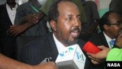 索马里联邦共和国总统哈桑•谢赫•马哈茂德(资料照片)