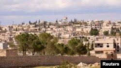 시리아 북부 알레포 인근의 칸 알-아살 마을. 시리아 정부는 반군이 이 지역에서 화학무기를 사용했다는 주장이다.
