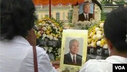 This year, the death of former king Norodom Sihanouk, who lies in state at the Royal Palace near the riverfront, has caused another cancelation.