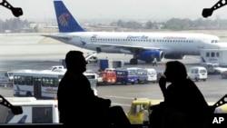 Máy bay của hãng Egyptair tại sân bay quốc tế Cairo ở Ai Cập.